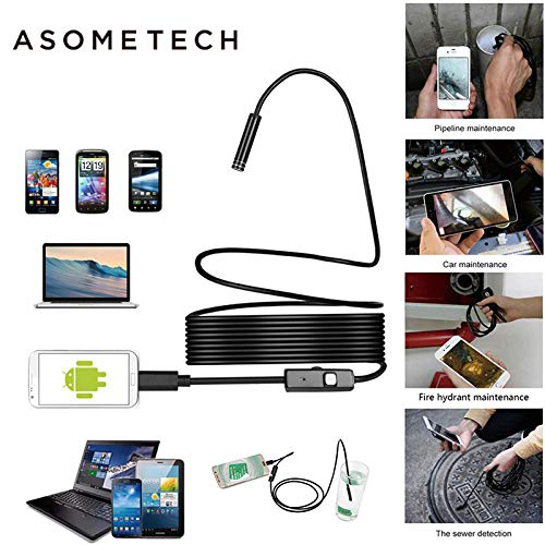 Amazon.com: 3.5m Waterproof Endoscope Mini hd Camera Snake Tube 5.5 mm Lens Camera Cable USB Inspection led borescope for Android Phone pc: Camera & Photo