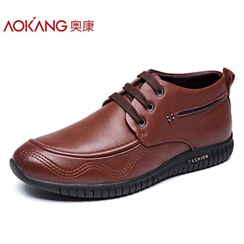 Aemember scarpe da uomo Business Casual scarpe e caldo cotone Calzature Scarpe Uomo Scarpe Uomo Inverno ,44, marrone