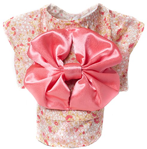 MaruPet Spring/Summer Floral Lovely Kimono Two-leg Ladylike Custome with Bowknot Pink L - Dog In Mickey Mouse Costume