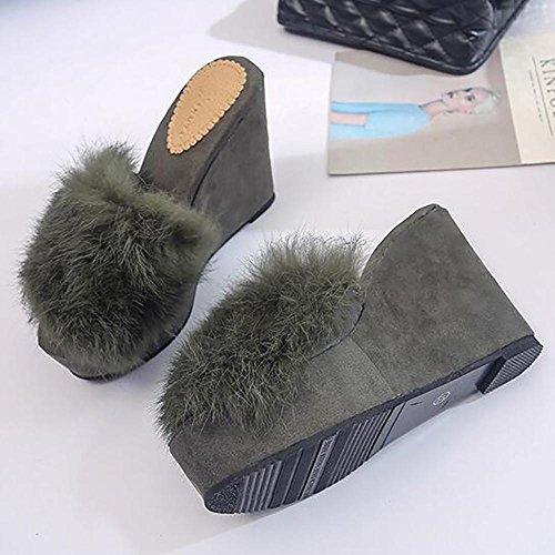 Mesdames pantoufles Plates Chaussures Femmes Lounge Wear