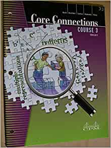 Core Connections: Course 3 Foundations for Algebra Toolkit ...