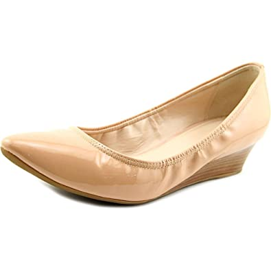 2b7a1be443e Cole Haan Elsie Luxe Women Open Toe Patent Leather Nude Wedge