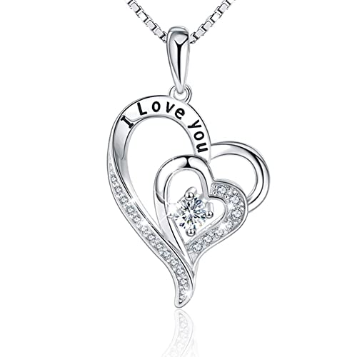 54266986e LILOING Jewelry for Women and Mom,Love Heart Pendant Necklaces for Women,Valentines  Day