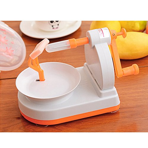 Alltic Professional Fruits Apple Pear Potatoes Peeler Corer in Seconds with Excellent Precision + Orange Opener Peeler Slicer Cutter Plastic Lemon Citrus Fruit Skin Remover