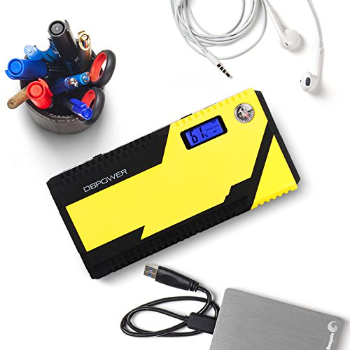 DBPOWER 500A Peak 12000mAh Portable Car Jump Starter Auto Battery Booster, Portable Phone Charger with Smart Charging Port, Compass & LCD Screen and LED Flashlight, for Engines up to 3L Gas and 2.5L D by DBPOWER (Image #8)