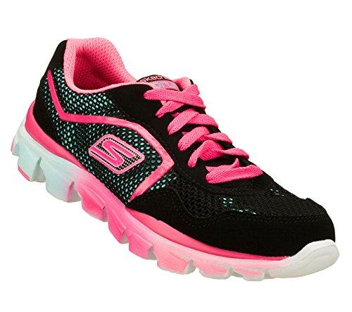 Skechers Kids 80685L GO Run Ride Sneaker,Black/Multi,13 M US Little Kid