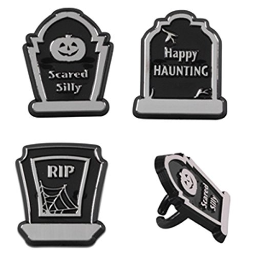 (Oasis Supply Cupcake/Cake Decorating Gravestone Assorted Rings, 1 1/2-Inch, Black/Gray,)