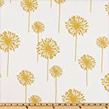 Premier Prints Dandelion Slub White/Yellow Fabric By The Yard