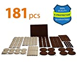 Best Furniture Pads for Hardwood Floors X-PROTECTOR Premium ULTRA LARGE PACK Felt Furniture Pads 181 piece! Felt Pads ALL SIZES Furniture Feet – Your Best Wood Floor Protectors. Protect Your Hardwood Flooring with 100% Satisfaction!