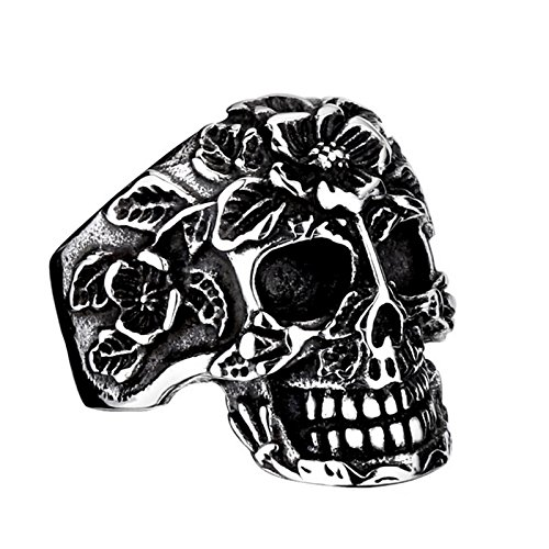 Avon Christmas Tree Pin - AmDxD Jewelry Stainless Steel Punk Vintage Rings for men Skull Silver Size 11