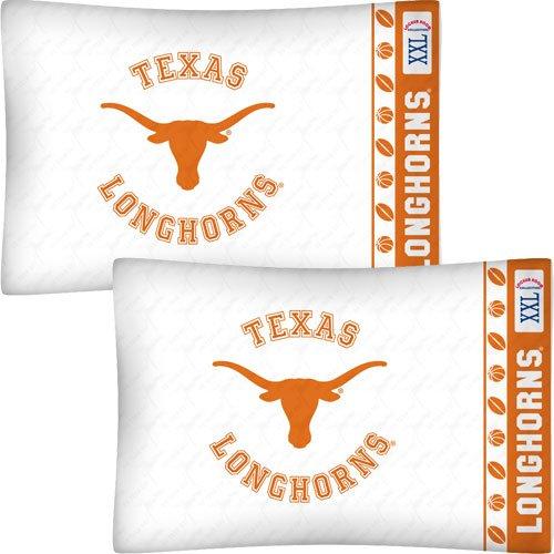 Ncaa Pillow Football (NCAA Texas Longhorns Football Set of Two Pillowcases)