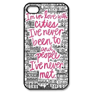 Iphone 4,4S 2D DIY Hard Back Durable Phone Case with john green quotes Image