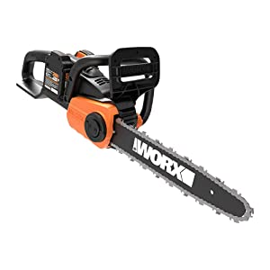 "WORX WG384 40V Power Share 14"" Cordless Chainsaw w/ Auto-Tension (2x20V Batteries)"