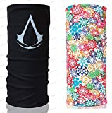 Assassin's Creed Floral Mask Scarf Bandana Multi Functional Headwear 150043 Biker Bb Gun Fishing Angler Extreme Motocross
