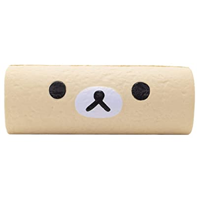 "Rilakkuma by San-X - Korilakkuma Meets Vanilla Cake Roll Slow Rising Squishy Authentic Licensed Product – 7"": Toys & Games"
