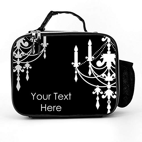 Welkoom Lunch Bag Insulated Lunch Box - Tough & Spacious Adult Lunchbox To Seize Your Day (Black And White Background With Chandelier - Lunch Bags For Men, Adults, Women)]()