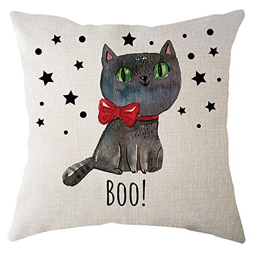 HomeMals Halloween Thriller Pillow, Halloween Pumpkin Square Pillow Cover Cushion Case Pillowcase Zipper Closure