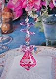 2 of Crystal Diamond Ceiling Lighting Fan Pulls Chain - Pink