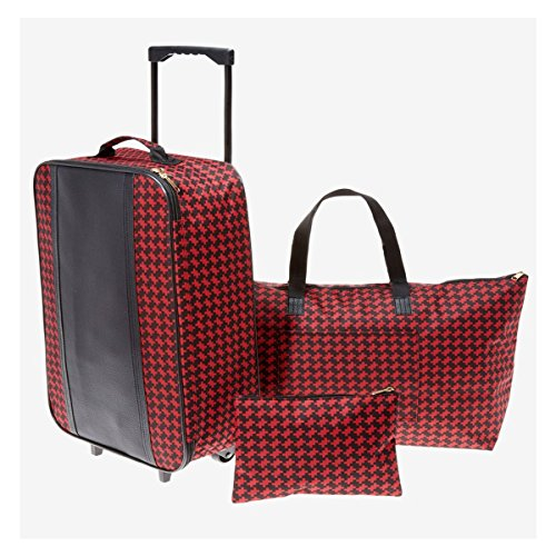 3 Piece Gingham Trolley Set