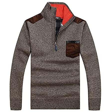 Langmotai Sweater Men S Sweaters Autumn And Winter Zipper Pullover Sweater  Men S Casual Sweater Thick Long-Sleeved Sweater  Amazon.co.uk  Sports    Outdoors 52a7f7aef