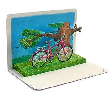 Tarjeta plegable en 3D con diseño de bicicleta ...