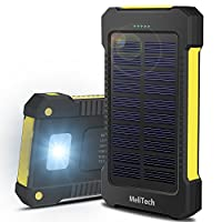 MeliTech Portable Solar Charger Waterpro...