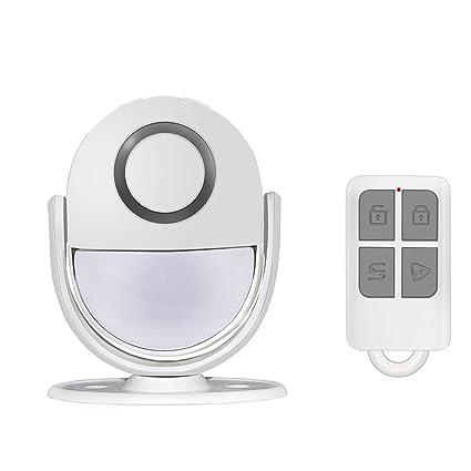 MUTANG Timbre inalámbrico Detector de movimiento infrarrojo Mini sensor Alarma Timbre de la puerta con receptor
