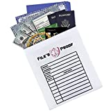 Large Fireproof Document Bag (15''x11'') | Fire Resistant Pouch/Envelope for Money, Documents, Jewelry, Valuables
