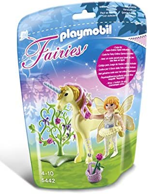 PLAYMOBIL Flower Fairy with Unicorn Sun Beam Playset