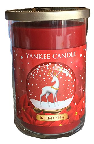 Yankee Candle Red Hot Holiday Cinnamon Twin Wick Large Jar Candle 22 oz (Holiday Ounce 22 Jar)