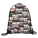 Cheap Nutella Peanut Bread Jam Drawstring Storage Bag Drawstring Backpack For Men & Women School Travel Backpack