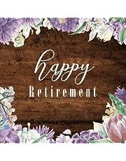 Happy Retirement: Retirement Message Book, Purple Floral, Happy Retirement Guest book, Keepsake for Retirement Party