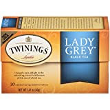 Twinings of London Lady Grey Black Tea, 20 Count (Pack of 6)