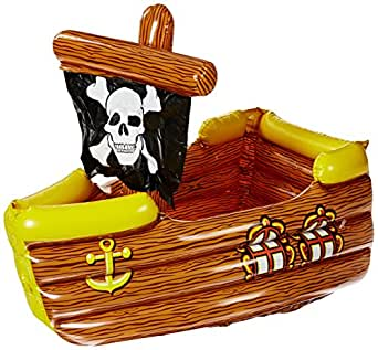 Inflatable Pirate Ship Cooler (holds apprx 72 12-Oz cans) Party Accessory  (1 count) (1/Pkg)