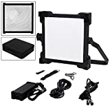 Fotodiox Pro FACTOR 1x1 V-2000ASVL Kit - Bicolor Dimmable Studio Light with Barndoors, Grid and Carrying Case