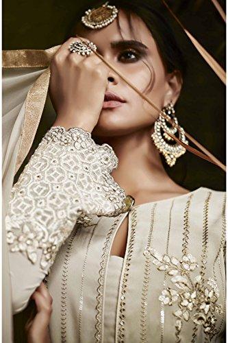 Beige Indiane Partywear Traditonal Da Progettista Etnica Kameez Salwar Facioun Donne qnnxw0P