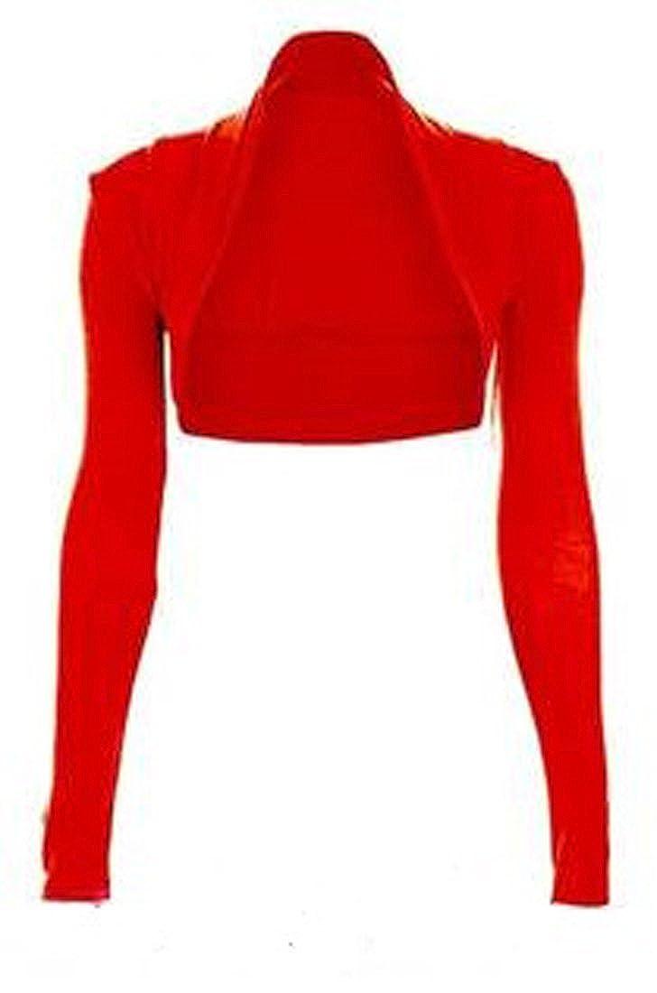 Crazy Girls Women's Soft & Cute Long Sleeved Bolero Shrug Top
