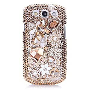TOPQQ ships in 48 hours sold out Luxury Sachet Jewel Back Case for Samsung Galaxy S3 I9300