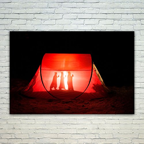 Westlake Art Poster Print Wall Art - Red Lighting - Modern P