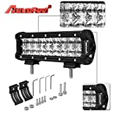 LED Light Bar, Autofeel 9 Inch 54W 5D Lens Spot Flood Combo Beam Driving Fog Light Off Road Led Light Bar with Adjustable Mounting Bracket for Off Road Jeep ATV AWD SUV 4WD 4x4 Pickup