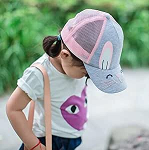 Baonmy Toddler Girls Baseball Cap Mesh Breathable for Outdoor Kids (Pink)