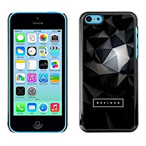 All Phone Most Case / Hard PC Metal piece Shell Slim Cover Protective Case for Apple Iphone 4 4s 3D Polygon Text Art Dark