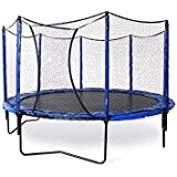 JumpSport 14' StagedBounce Trampoline with Enclosure — Enjoy Safer Landings with High Bounce Performance — Safety Net with Overlapping Entry