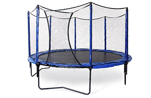 JumpSport 14' StagedBounce | Includes Trampoline and Enclosure | Enjoy Safer Landings with High Bounce Performance | Unforgettable Overlapping Doorway by JumpSport (Image #1)
