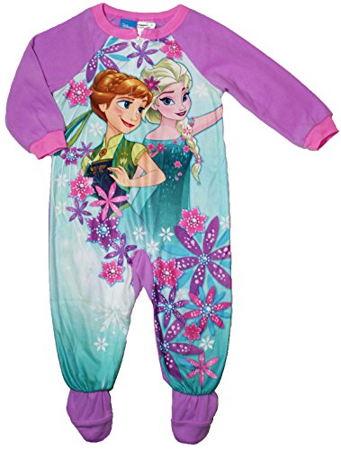 Disney Frozen Little Girls Toddler Footed Blanket Sleeper Pajamas