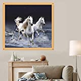 MEXUD-DIY 5D Diamond Painting Horse Embroidery Cross Stitch Kit Wall Home Decor Craft