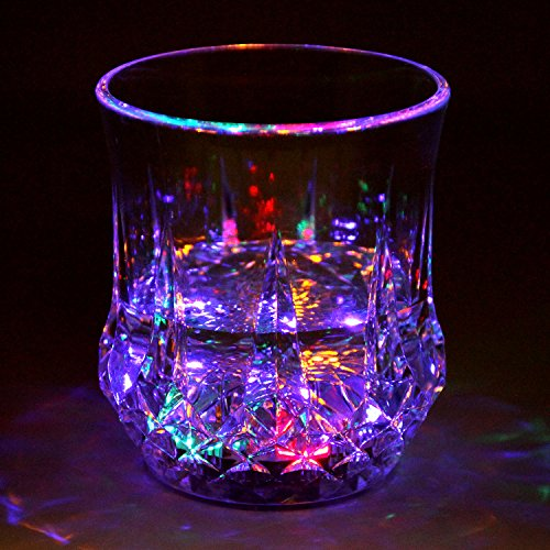 Liquid Activated Multicolor LED Tumblers ~ Fun Light Up Drinking Glasses - 6 oz. -