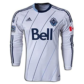 adidas Soccer Replica Jersey  adidas Vancouver Whitecaps Authentic Long  Sleeve Home Replica Soccer Jersey 2014  Amazon.co.uk  Sports   Outdoors e30f71d11