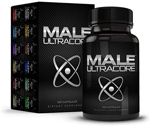 Male UltraCore Male Enhancement Supplements for Men Erection Booster 1-Month Supply Silver Pack
