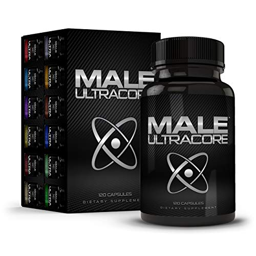 Male UltraCore Male Enhancement Supplements for Men Erection Booster 1-Month Supply Silver Pack (Best Testosterone Supplements For Men Over 40)